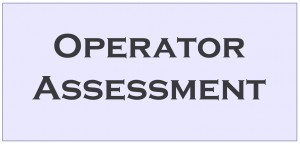 5.Operator Assessment