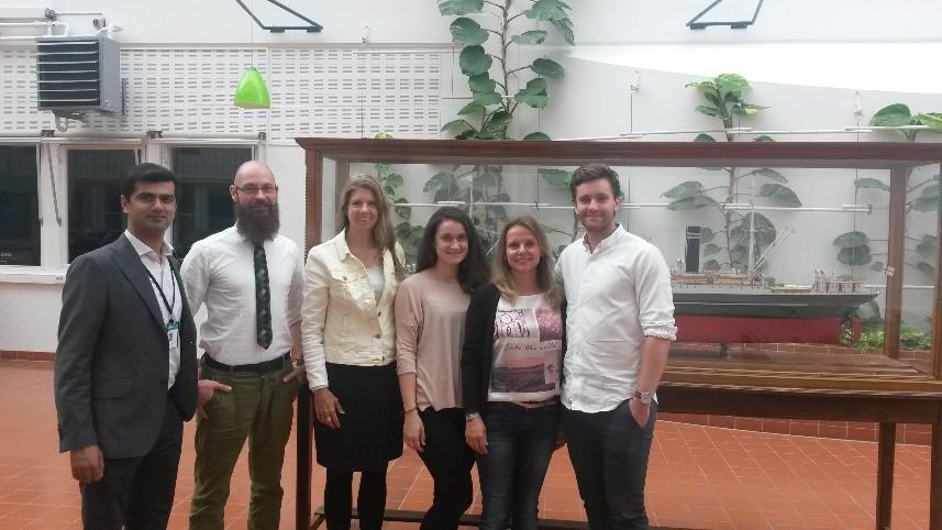 From left: Prof. Nazir, Sebastian, Prof. Kluge, Barbra Frank, Dr. Hagemann, and Jorgen Ernstsen.