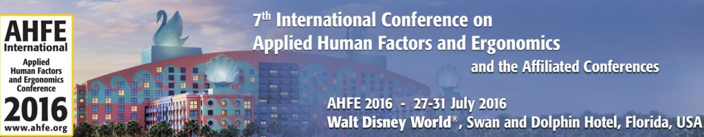 7th International conference on Applied Human Factors and Ergonomics